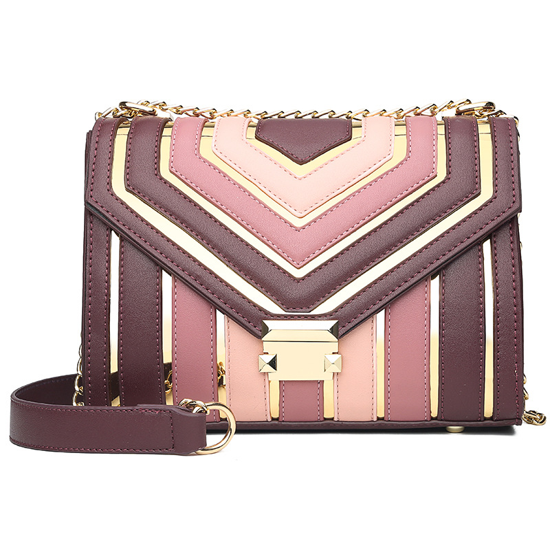 2020 Spring New Collision Candy Color Shoulder Bags Mini Fashion Bag For Woman Small Messenger Crossbody PU Flap Chain Handbag