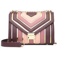 2020 Spring New Collision Candy Color Shoulder Bags Mini Fashion Bag For Woman Small Messenger Crossbody PU Flap Chain Handbag