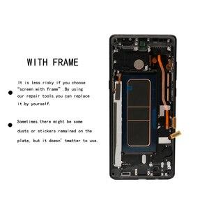 """Image 4 - Nieuwe 6.3 """"Originele Amoled Lcd Display Voor Samsung Galaxy NOTE8 Lcd N9500 N9500F Lcd Touch Screen Vervangende Onderdelen + Frame"""