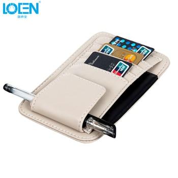 Многофункциональный Автомобильный держатель для карт LOEN 1 *, органайзер для хранения очков, подвесная сумка для автомобиля, автомобильные а...