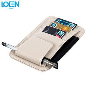 8QzJs1Tg Auto Car Sun Visor CD Organizer Package Case Cards Pocket Pen Glasses Holder Bag Beige
