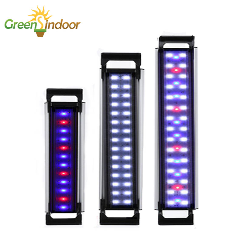 LED Aquarium Light For 20-65CM Fish Tank Aquatic Plant Lamp LED Lighting Water Plant Grow Light Luminaria With Timer And Dimming