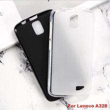 Para lenovo a328t capa de silicone macio tpu fosco preto protetor do telefone escudo para lenovo a328t capa coque capa traseira caso
