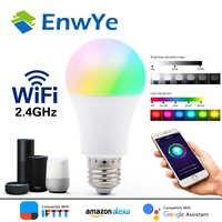 EnwYe WiFi inteligente bombilla de luz 7W 9W apoyo Amazon ECHO/Google/IFTTT remoto Control de voz lámpara Led RGB + WW + CW AC 110-240V