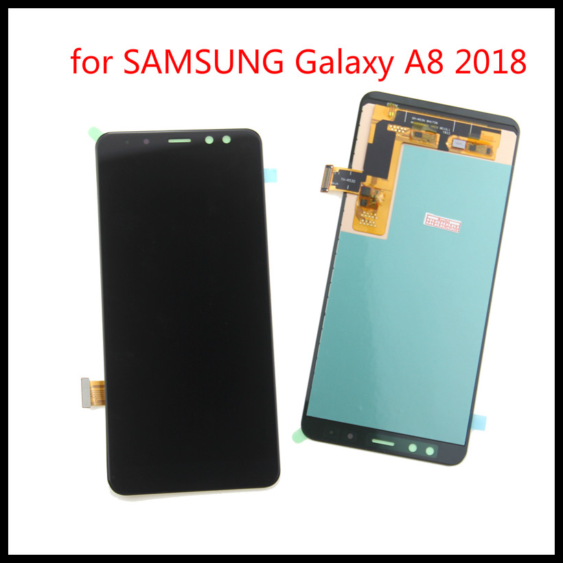 Original display LCD <font><b>Screen</b></font> for SAMSUNG Galaxy A8 2018 LCD A530 A8 2018 LCD <font><b>A530F</b></font> LCD Display Touch Digitizer <font><b>Replacement</b></font> image