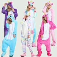Adultes Kigurumi hiver animaux pyjamas ensembles flanelle vêtements de nuit de dessin animé licorne pyjamas Unicornio vert dinosaure pyjamas Onesies