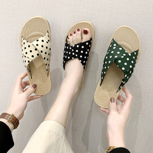 Cute girl polka dot women home slippers summer sandals ladies slippers indoor house shoes slippers sandals Mujer flax funny adult slippers women house shoes indoor pantufas cute bedroom slippers home lovers chaussons zapatillas casa mujer
