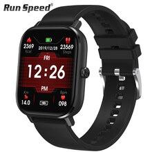 DT35 ساعة ذكية الرجال بلوتوث دعوة تعمل باللمس الكامل جهاز تعقب للياقة البدنية ضغط الدم ساعة ذكية IP67 النساء Smartwatch ل amazfit x