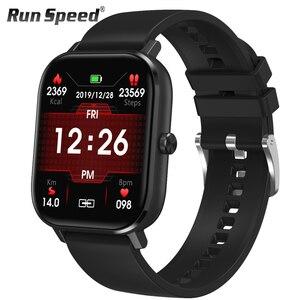 Image 1 - DT35 ساعة ذكية الرجال بلوتوث دعوة تعمل باللمس الكامل جهاز تعقب للياقة البدنية ضغط الدم ساعة ذكية IP67 النساء Smartwatch ل amazfit x