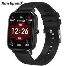 Dt35 relógio inteligente homem chamada bluetooth toque completo de fitness rastreador pressão arterial relógio inteligente ip67 feminino smartwatch para amazfit x