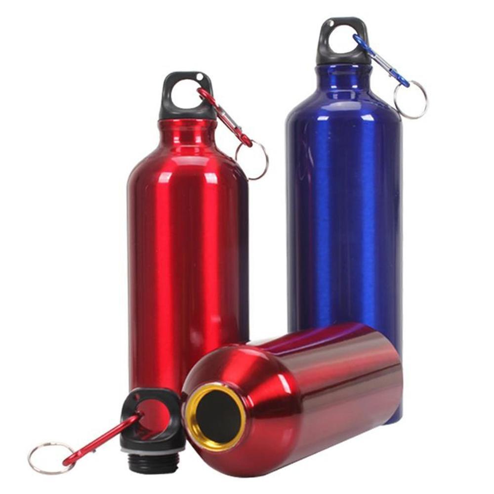 400 500 600 700ML Hot Water Bottle Outdoor Exercise Plastic Bike Sports Water Bottles Drinking Aluminum Innrech Market.com