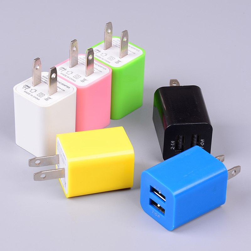 Universal Dual USB Mini AC Power Wall Charger 2 Ports Home Mobile Phone Charging Adapter US