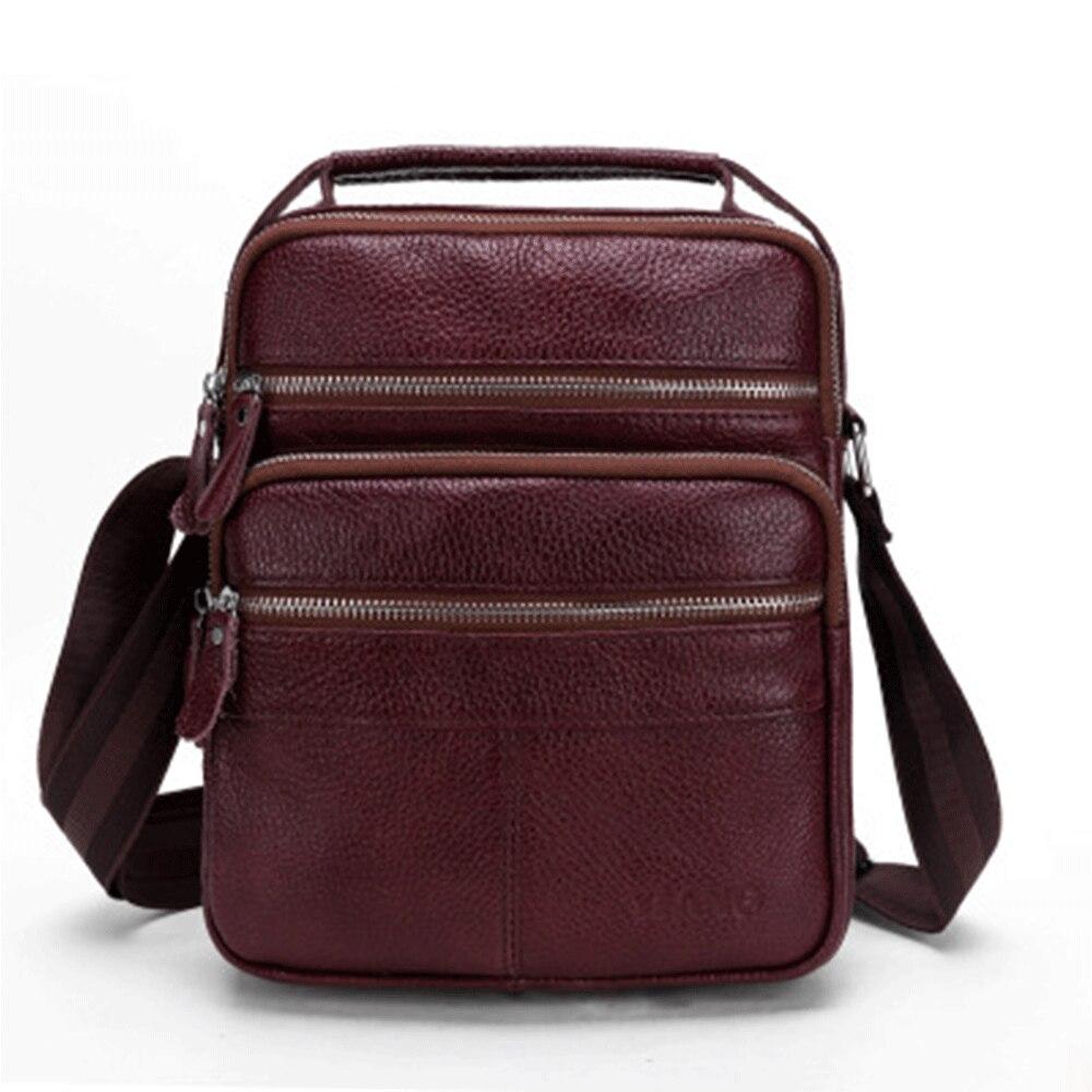 Travel Bags Genuine Leather Crossbody Men Messenger Bag Hot Sale Male Small Man Flap Fashion Shoulder Bags Men's Travel Handbags