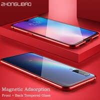 Czerwony mi K20 7A uwaga 8 7 Pro luksusowe etui magnetyczne dla Xiao mi mi Cc9 Cc9e 9t Pro Cc 9 Se 8 128gb globalne podwójne szkło 360 pełna okładka