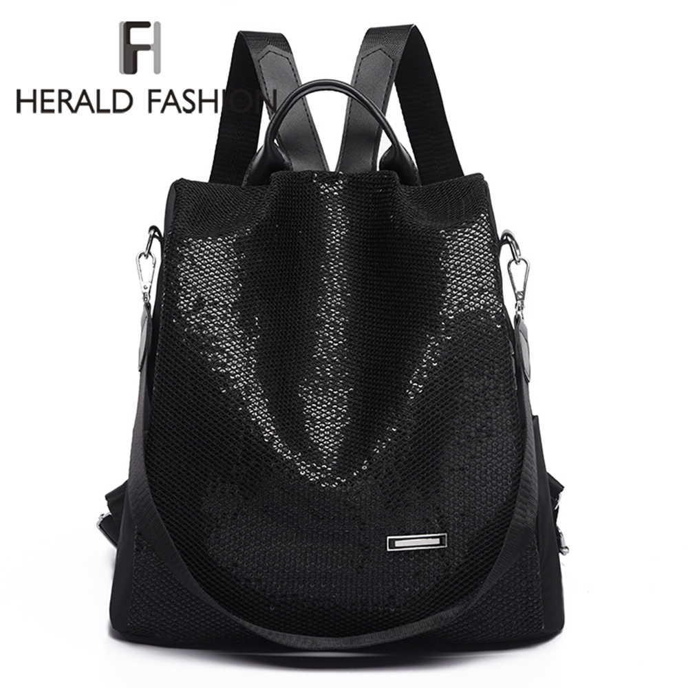 Shining Sequins Backpack Women Fashion Daily Large Capacity Shoulder Bags Teenage Student Girls Anti-theft Leisure Backpacks