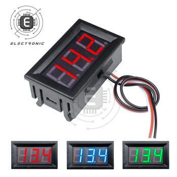 0.56 Inch Digital Voltmeter DC0-30V Digital Voltmeter Voltage Panel Meter Red/Blue/Green For 5V 12V Electromobile Motorcycle Car image