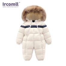 Ircomll Children Winter Outwear Infant Baby Boy Girl Rompers Thicken Fur Baby Snowsuit  Surper Warm Jumpsuit Toddler Outwear baby rompers fleece animal baby winter clothes hooded thick warm baby girl romper toddler baby boy jumpsuit infant baby snowsuit