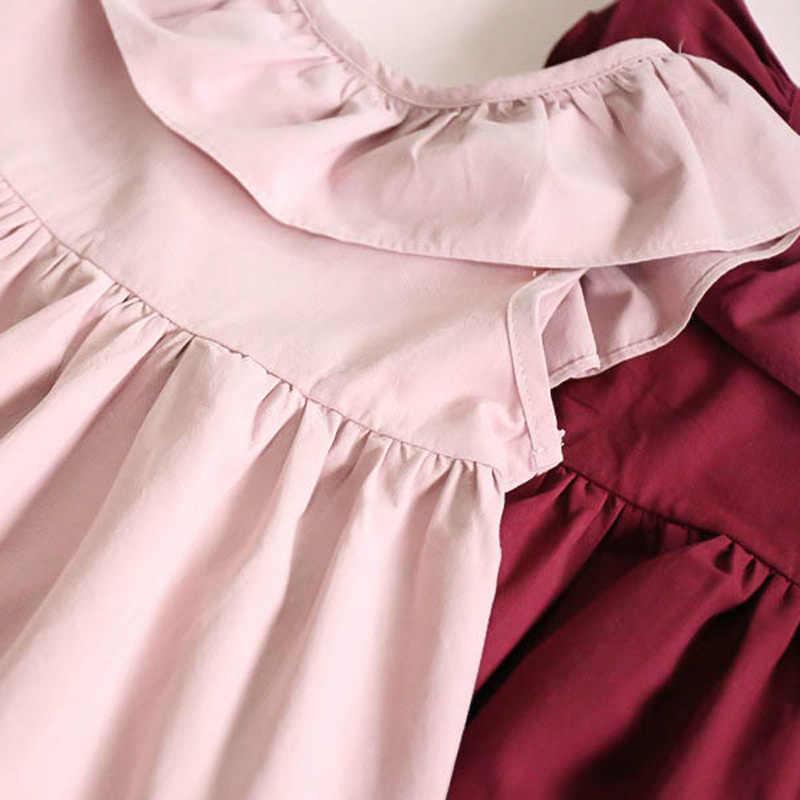 2019 Phong Cách Thanh Lịch Thời Trang Bay Tay Nữ Thắt Nơ Công Chúa Đầm Dự Tiệc Quần Áo Trẻ Em Bé Gái Đáng Yêu Trang Phục