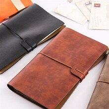 А6, винтажный кожаный чехол, пиратский дневник, ежедневник,, органайзер, Ретро стиль, для путешественников, спиральный блокнот, Снова в школу, канцелярские принадлежности