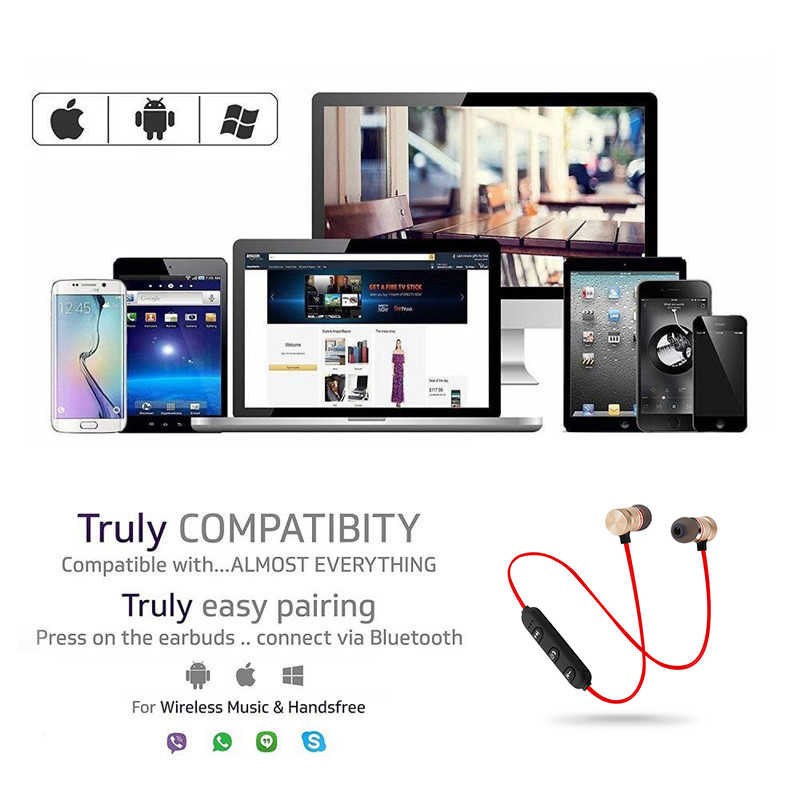 Auriculares magnéticos Bluetooth, banda para el cuello, auriculares magnéticos inalámbricos para juegos, auriculares estéreo de Metal con micrófono para IPhone