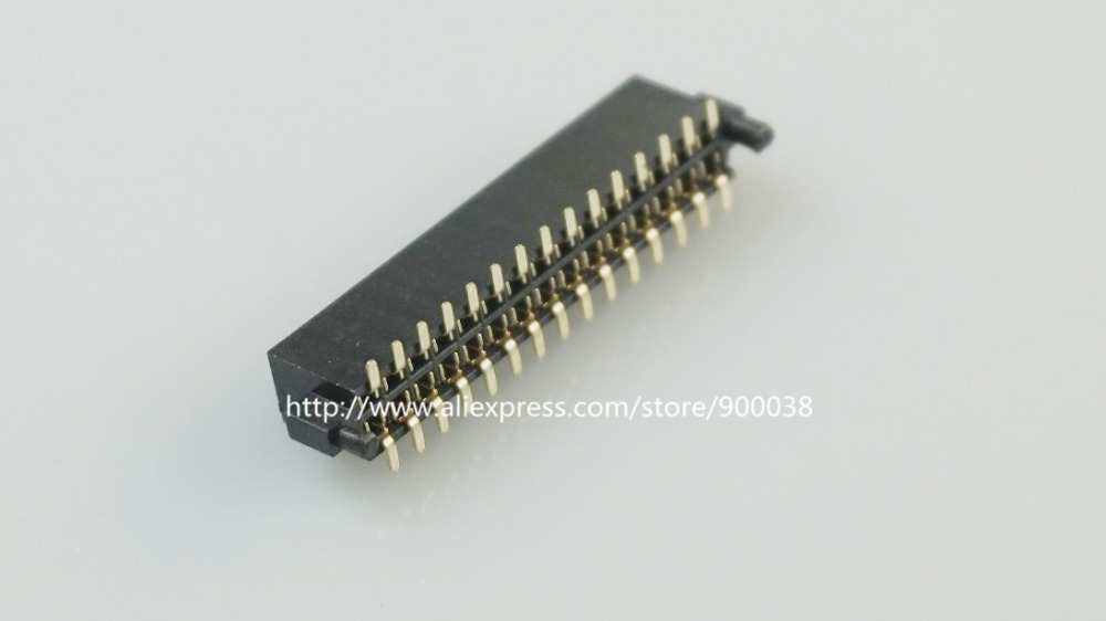 500 pcs Pitch <font><b>1.27</b></font> <font><b>mm</b></font> 2x15 P 30 pin PCB Header Pin Female Sockets with Pegs Post dual row straight SMT / SMD Rohs Lead free image
