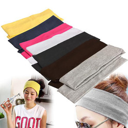 1/2pcs Women Solid Color Sweat Cotton Elastic Headband Wide High Stretch Hair Band Fashion Women Hairbands Yoga Hair Accessories