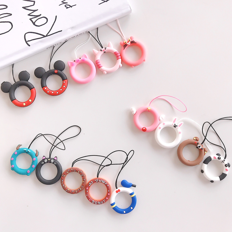 Universal Mobile Phone Rope Lanyard Anti-drop Rope Lanyard Finger Cellphone Ring Strap Cute DIY Accessories For Airpods Case