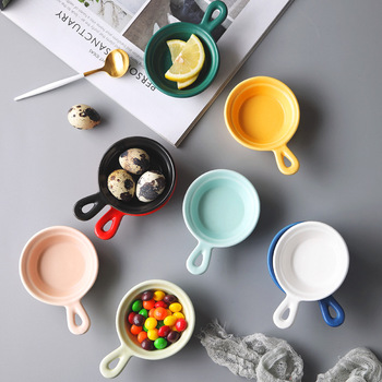 50ML Janpanese Solid Ceramic Spicy Sauce Dish Heat Resistant Handle Snack Dishes Plate Porcelain Nuts Fruit Tray Soy Sauce Dish ceramic sauce dish home soy sauce dish snack sauce creative cutlery set for home kitchen supplies