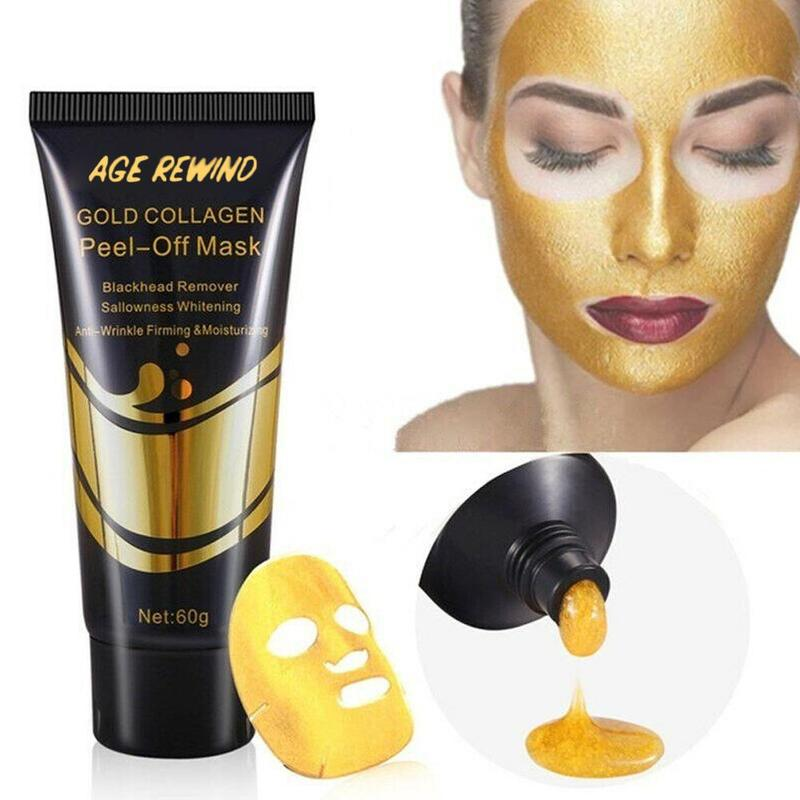 New Gold Tear Film To Blackhead Shrink Pores Fade Fine Lines Oil Control Moisturizing Firming Whitening Cream Remover Tear Mask