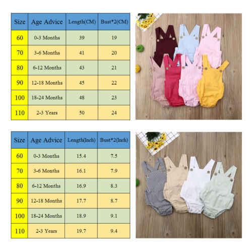 2020 Baby Zomer Kleding Leuke Pasgeboren Kinderen Bodysuit Baby Jongens Meisjes Kleding Babygrow Solid Jumpsuit Sunsuit Outfits 7 Kleuren