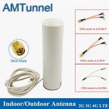 4G WiFiเสาอากาศ 3G LTEโมเด็มantena 3Mสาย 2.4GHz ANTENNA 12dBi 2 * SMA/2 * TS9/2 * CRC9 ชายสำหรับHuawei B315 E8372 E3372 Router