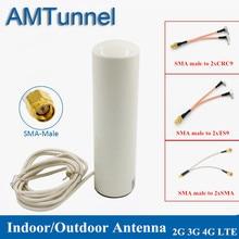 4G WiFi אנטנת 3G LTE מודם antena 3M כבל 2.4GHz antenne 12dBi 2 * SMA/2 * TS9/2 * CRC9 זכר עבור Huawei B315 E8372 E3372 נתב