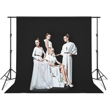 Photography Backdrop Background Stand Support System  9.8ft *13ft Video Photo Studio with Polyester Black