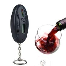 Car Alcohol Tester Mini Flashlight LED Keychain Parking Gadgets Digital Alcohol Tester with LCD Clock Timer New(China)