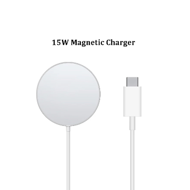 Magnetic 15W Wireless Charger Fast Portable Charging For Phone 12 Mini 12 Pro Max 12 Type-C Fast 20W US EU UK Plug Charger