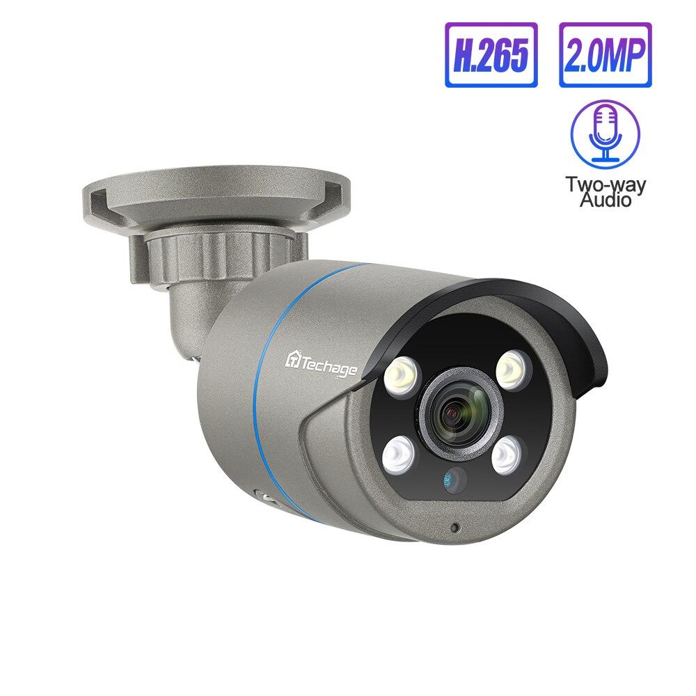 Techage 1080P H.265 POE IP Kamera 2-Weg Audio Sound 48V Onvif 2MP AI Video Kamera Im Freien wasserdichte Sicherheit CCTV Überwachung