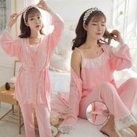 3Pcs/Set Pregnancy Maternity Pajamas Sleepwear Breastfeeding Nightgown Elegant Maternity Nursing clothes Pregnancy Nightwear