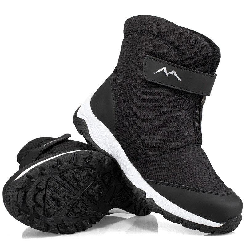 Winter Men Boots Shoes High-Top Water-Resistant Cotton Shoes Male Plus Velvet Men's Warm Snow Boots Outdoor Men's Winter Sneaker