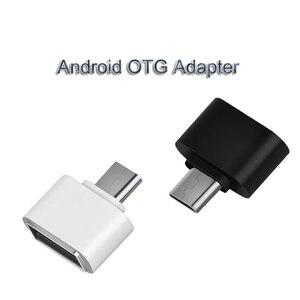 Image 1 - USB 3.0 סוג C OTG מתאם מיקרו USB OTG ממיר עבור Redmi Xiaomi Huawei סמסונג עכבר מקלדת USB פלאש דיסק מתאם OTG
