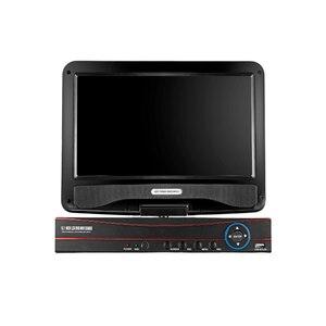10,1-дюймовый ЖК-монитор CCTV 4CH DVR 1080N видеорегистратор 4 канала HVR DVR NVR Поддержка AHD TVI CVI IP камера