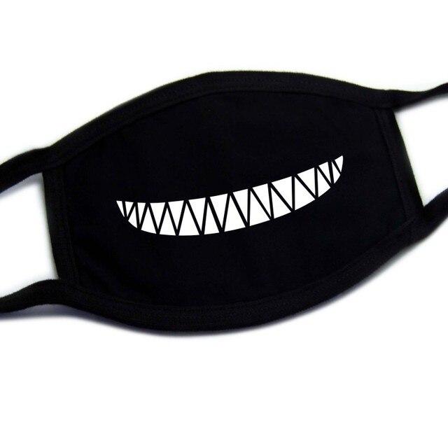 Cotton Dust Mask Cartoon Expression Teeth Muffle Chanyeol Face Respirator Anti Kpop Bear Mouth Mask winter mask bigbang 5