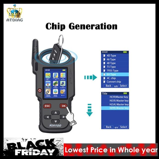 Originale Lonsdor KH100 Maker Remoto Chiave Programmatore Generare Circuito Integrato/Simulare Circuito Integrato/Identificare Copia/Frequenza A Distanza/Accesso tasto di controllo
