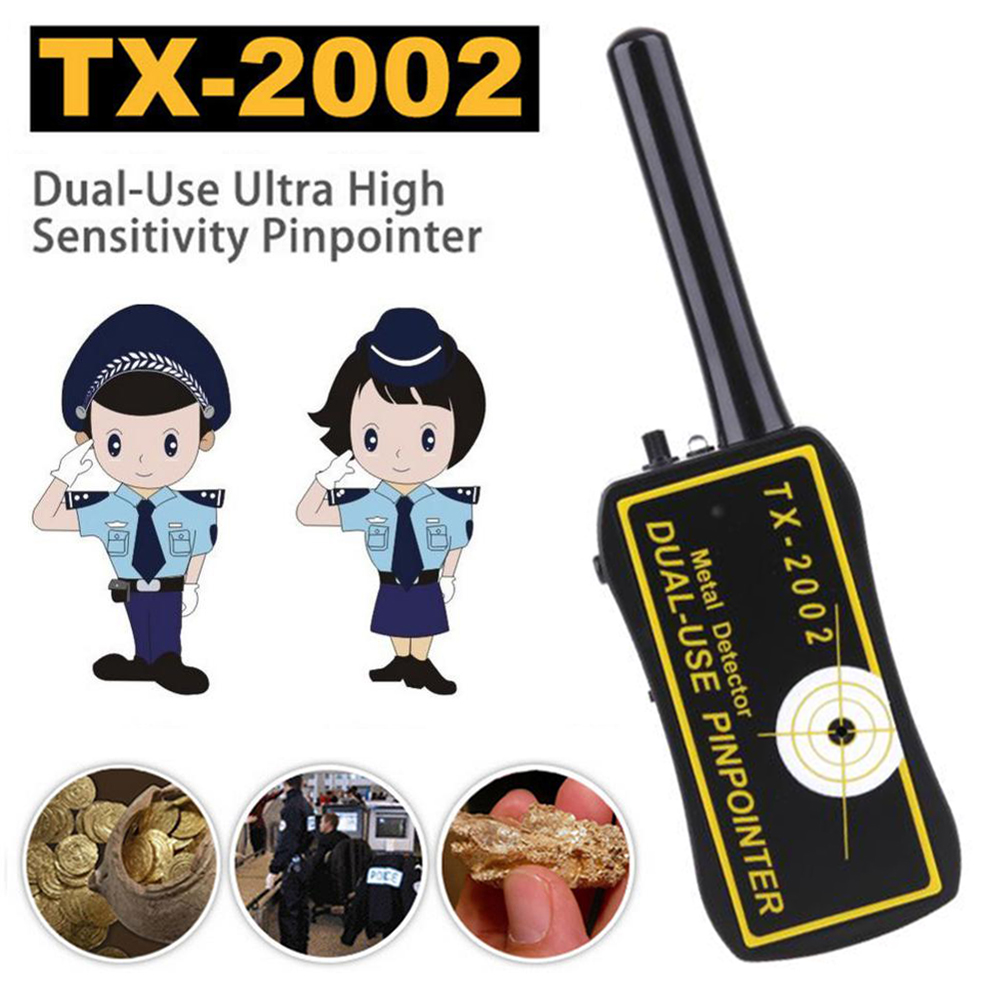 TX-2002 Waterproof Handheld Metal Detector Sensitivity Pinpointer Probe Finder Dual-use Shaft Sheath Portable Metal Detector