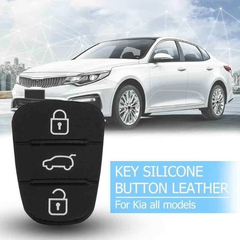 交換 3 ボタンのための現代起亜フリップリモート車の車はリモートキーシェルカバーシリコンゴム修復自動ニュー