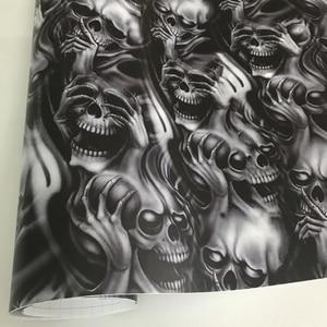 Image 1 - ORINO Car Wrap Graffiti naklejka z czaszką Camo naklejka bomba Vinyl Film czaszka na samochód lusterko motocyklowe kaptur dachowy kalkomania Stickerbomb