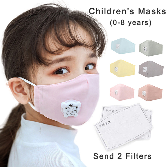 Children Masks 8 Layer Protection Respirator Filter Washable Anti Flu Bacterial Anti Dust PM2.5 Kids Face Mouth Mask ffp2 N95