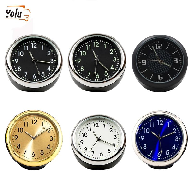 YOLU Car Clock Ornaments Auto Watch Air Vents Outlet Clip Mini Decoration Automotive Dashboard Time Display