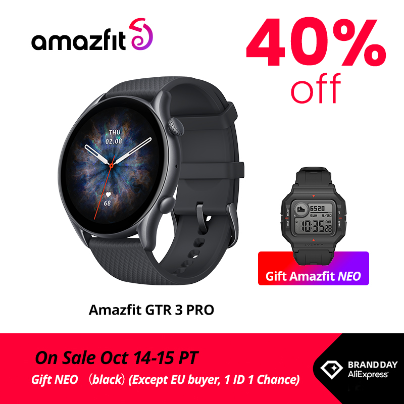 [Launch on 14th]Amazfit GTR 3 Pro GTR3 Pro GTR-3 Pro Smartwatch AMOLED Display Zepp OS App 12-day Battery Life Watch for Andriod