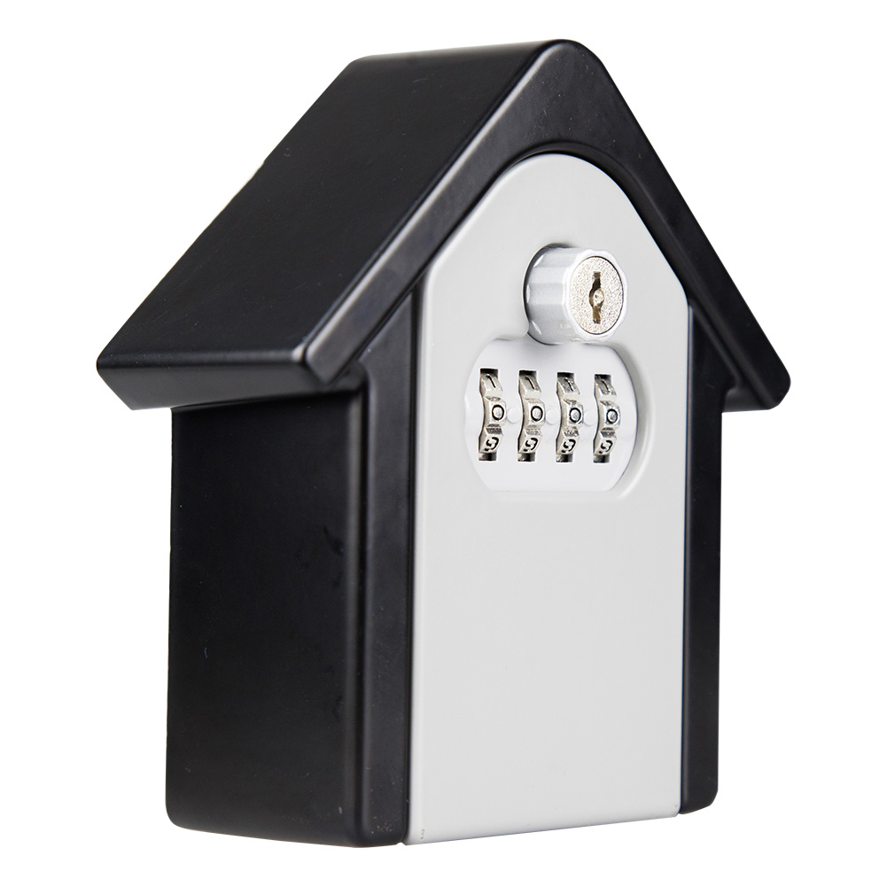 Key Lock Box With Waterproof Case Wall Mount Metal Password Box For Home Business  @M23