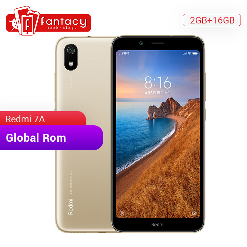 """Global ROM Xiaomi Redmi 7A 7 A 2GB 16GB 5.45"""" HD Snapdargon 439 Octa core Mobile Phone 4000mAh Battery 13MP Camera Smartphone-in Cellphones from Cellphones & Telecommunications"""